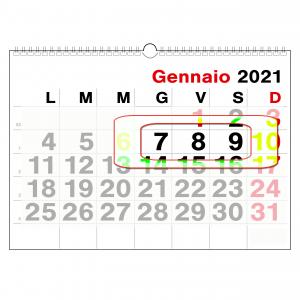 Attività didattica 7- 8- 9 gennaio 2021