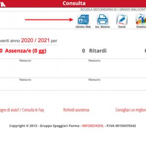 """Nuova  funzionalità del """"Libretto web"""" per le giustifiche"""