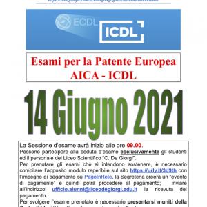 Il 14 giugno sessione ICDL
