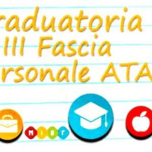Pubblicazione graduatorie provvisorie III Fascia
