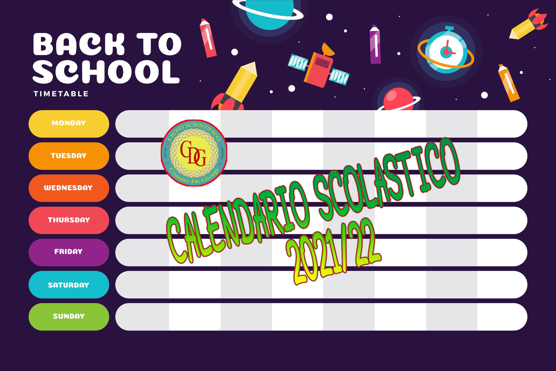 Calendario scolastico 2021-2022 – Liceo Scientifico Cosimo De Giorgi