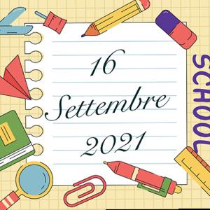 Il 16 Settembre inizio delle lezioni